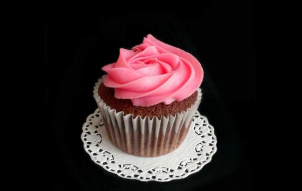 Cupcake de chocolate y frambuesa
