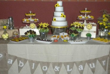 Sweet table y tarta nupcial