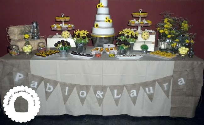 Sweet Table para la boda de Pablo & Laura