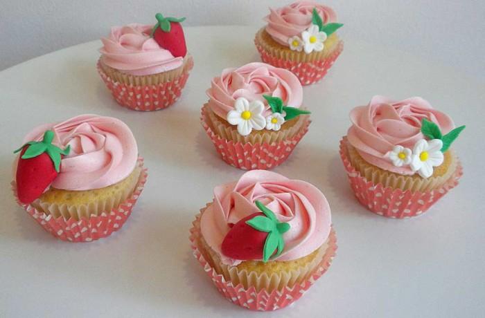 Cupcakes  Tarta de fresa
