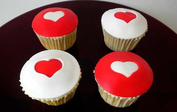 Cupcakes personalizados de corazones
