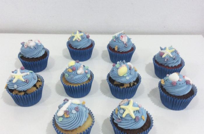Cupcakes fondo del mar